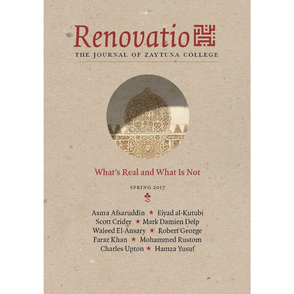 Renovatio:  The Journal of Zaytuna College - Inaugural Issue  Vol. I, No. 1