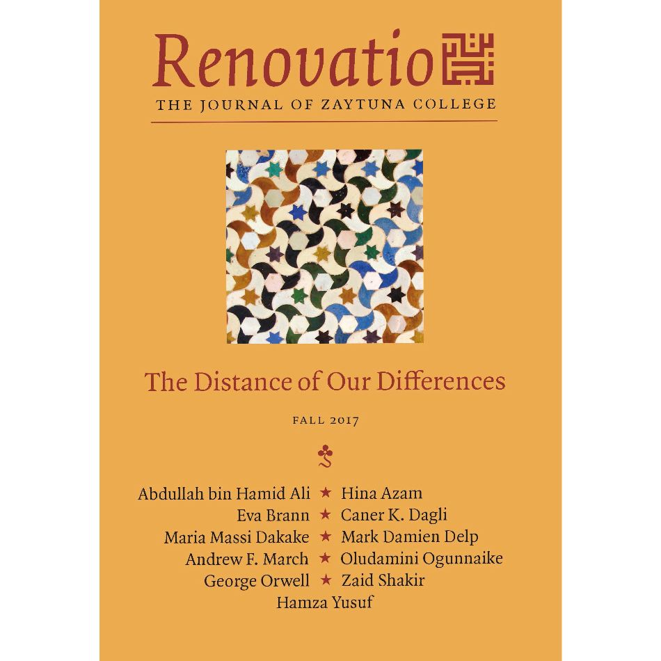 Renovatio: The Journal of Zaytuna College – Fall 2017  Vol. I, No. 2