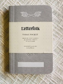 Pocket Planner - Gray Linen