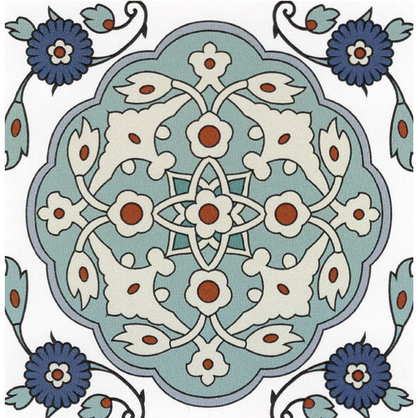 Sticker - Turkish - Turquoise / Cobalt