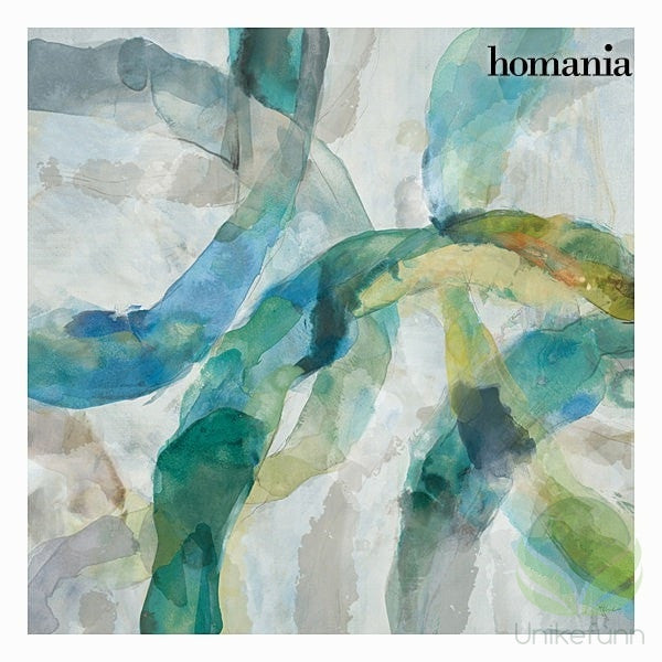 Blå abstrakt lerretramme by Homania