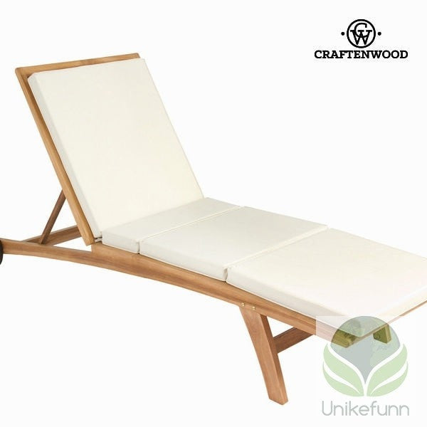 Teak benker med pute by Craften Wood