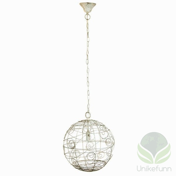 Rustikk metallball taklampe by Shine Inline - Langlevering.no