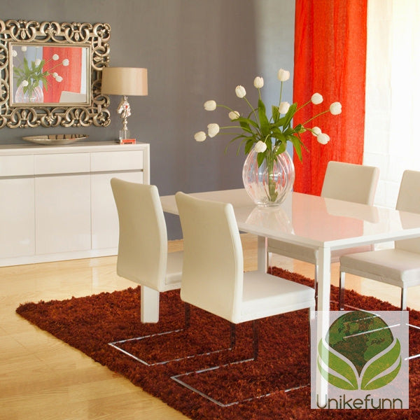 Hvit middagsbord - Pure White Samling by Craftenwood