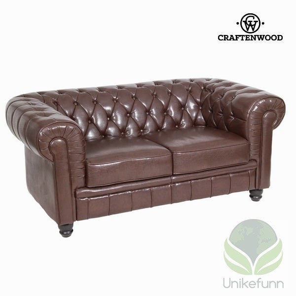2-seter brun sofa by Craften Wood - Langlevering.no