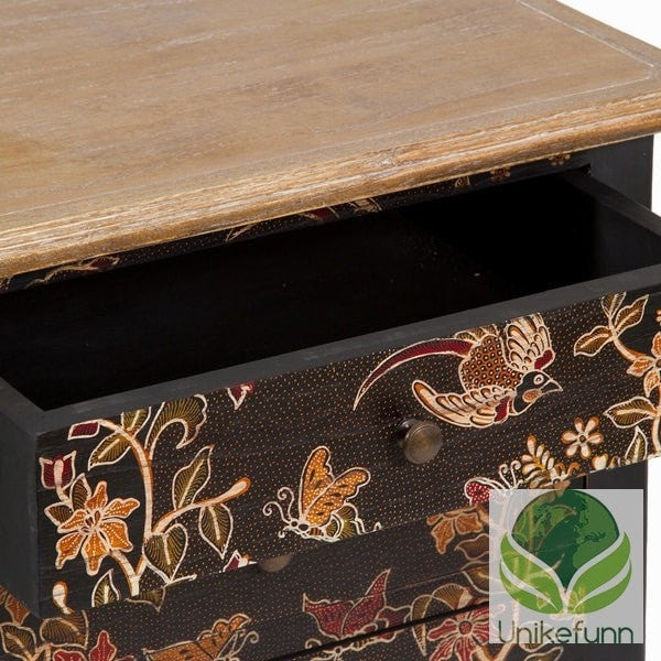 Sidebord m/batikk - Paradise Samling by Craften Wood - Langlevering.no