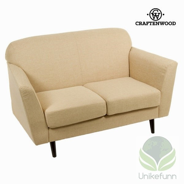 2 seters beige sofa abbey - Love Sixty Samling by Craften Wood - Langlevering.no