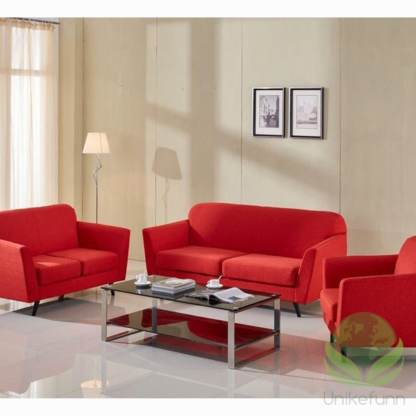 3 seters sofa rød abbey - Love Sixty Samling by Craften Wood - Langlevering.no