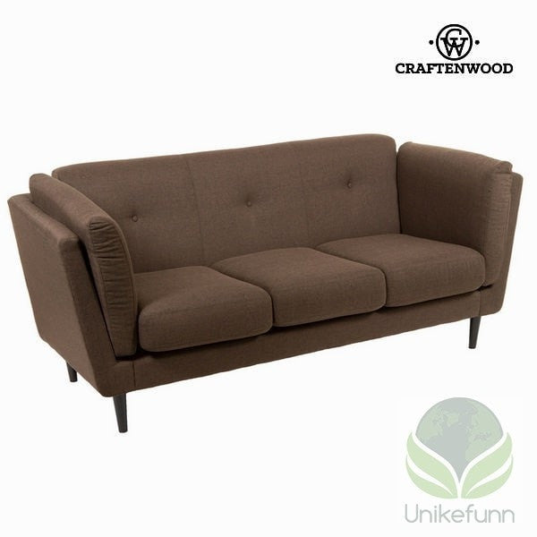 3 seters sofa brun city - Love Sixty Samling by Craften Wood - Langlevering.no