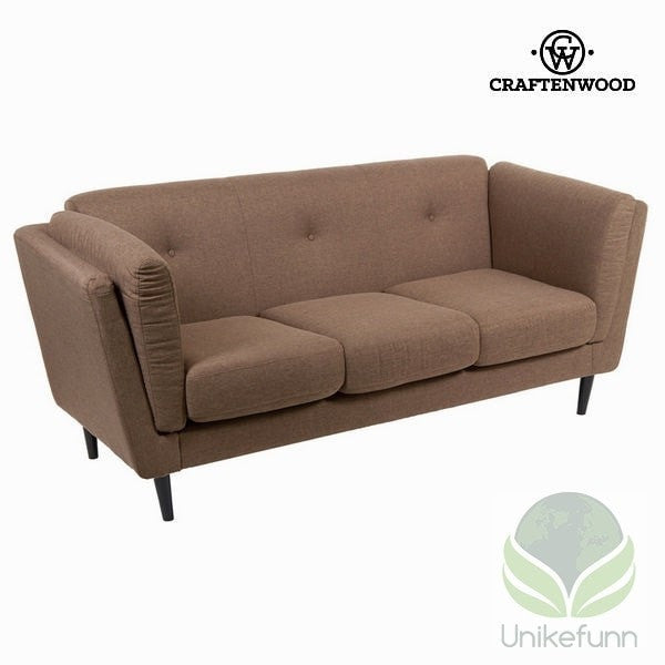 3 seters sofa tobacco city - Love Sixty Samling by Craften Wood - 54,90 NOK - Unikefunn.no - BigBuy, Hjem Hage, Møbler, Sofaer og Sovesofaer