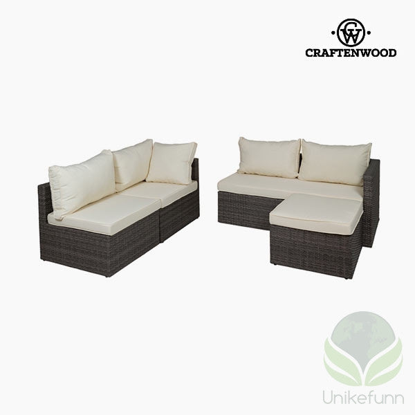 Sofa og Puffsett (2 pcs) by Craftenwood