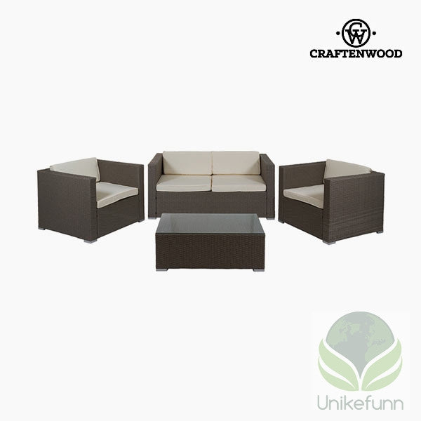 Sofa og bordsett (4 pcs) by Craftenwood