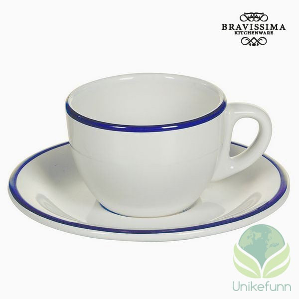Tea set China crockery Hvit Marineblå (12 pcs) - Kitchen's Deco Samling by Bravissima Kitchen