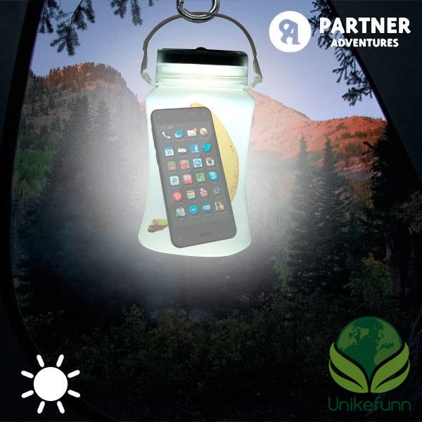 Partner Adventures Silikon Solenergi LED Flaske
