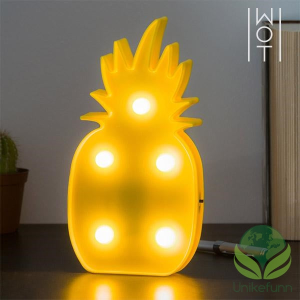 Wagon Trend LED-Ananas Vegglys (5 LED)