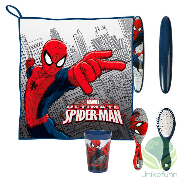 Spiderman Barnas Toalettbag for barn (5 deler)