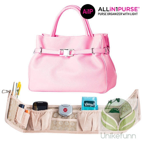All in 1 Purse Håndveske-Organisator med Lys