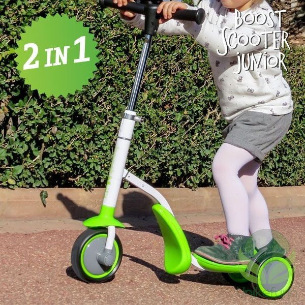 BOOST SCOOTER JUNIOR 2 I 1 SPARKE TREHJULS SYKKEL (3 HJUL)