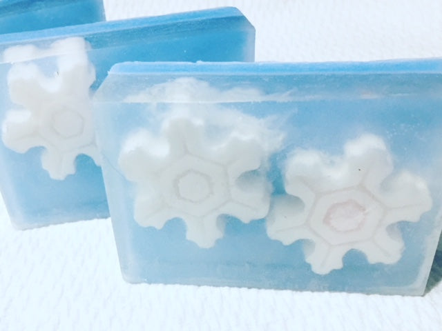 Snowflake Glycerin Soap Bar - SublimeDragonfly