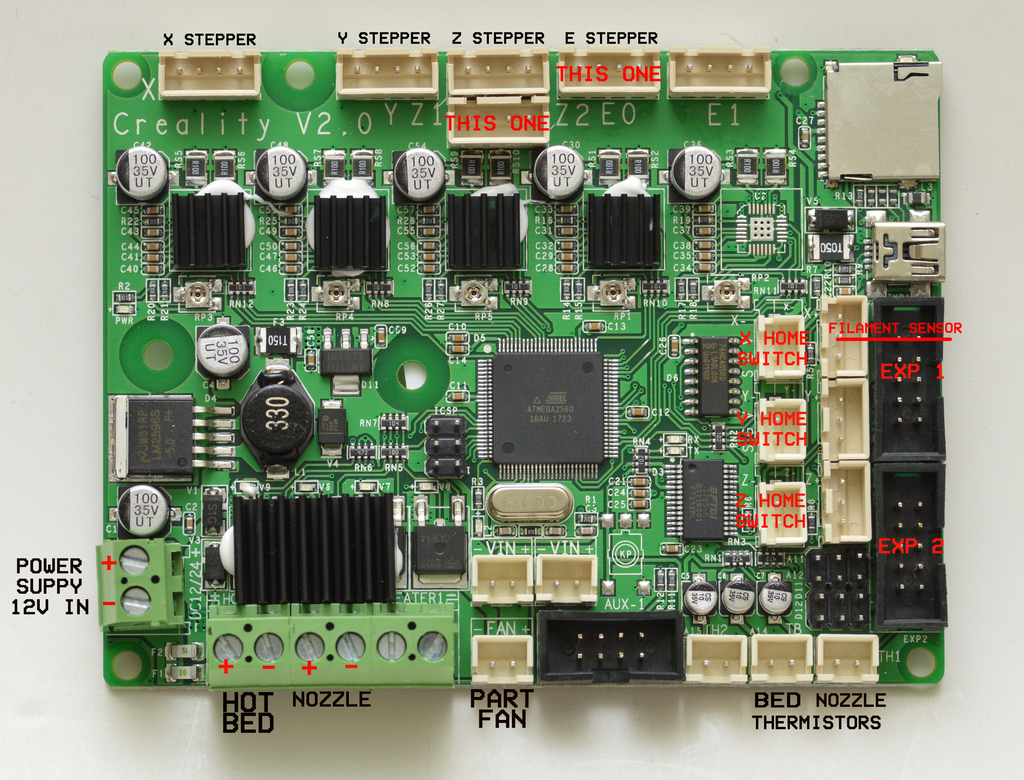 Creality Cr Series Motherboard  Atmega  10s   U2013 Tiny