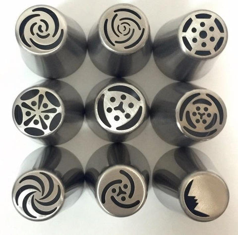 Unique Flower Frosting Nozzles - 9 pcs/set