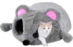 Mouse Cat Bed House with Washable Cushion