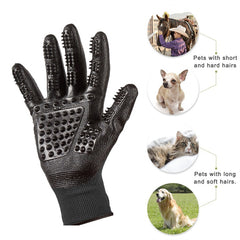 1 Pair of Pet De-shedding Glove Brush for Cats, Dogs, and Horses