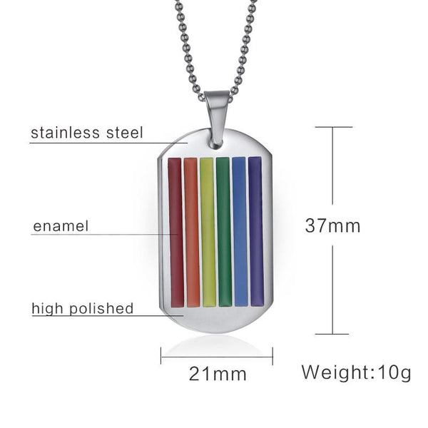 Rainbow Stripe Dog Tag