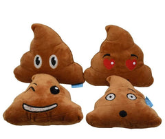 poop emoji dog toy with fart sound