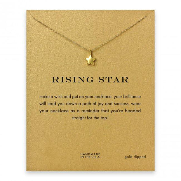 Rising Star Gold Necklace