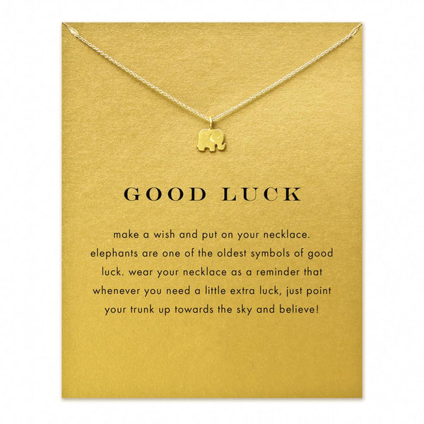 Good Luck Elephant Gold Pendant Necklace
