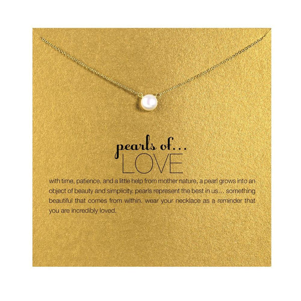 Pearl of Love Gold Necklace