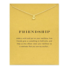 Friendship Anchor Gold Pendant Necklace