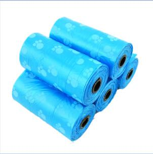 200PCS (20pcs/roll) Biodegradable Dog Poop Bag With Paw Prints