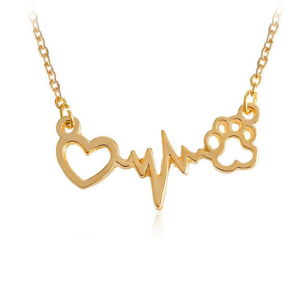 Lifeline Pulse Heartbeat Pendant Necklace