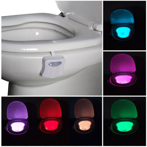 """Bowl Light"" Motion Activated Sensor Toilet Night Light - Bathroom accessories"