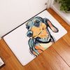 Modern Grafitti Art Style Anti Slip Floor Mats With Dog Paintings