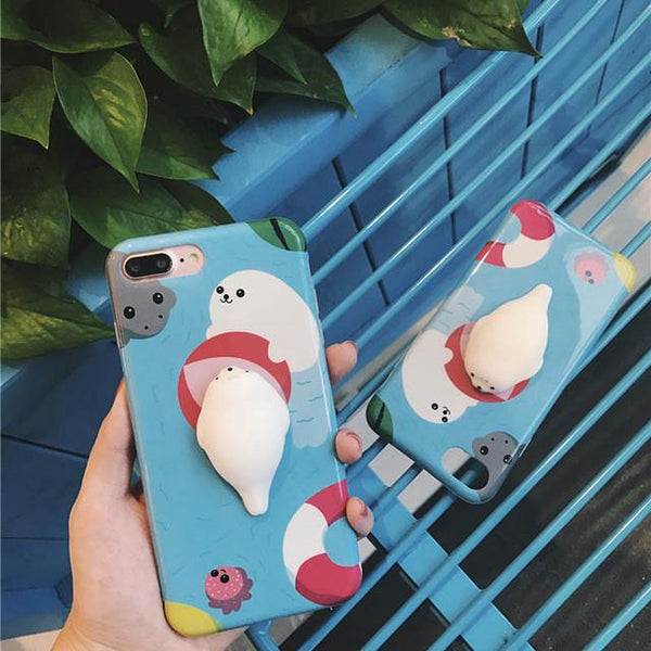 3D Cute Squishy Cat Case for iPhone 6 6S 6S Plus 7 7 plus