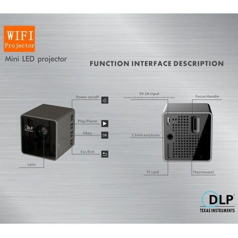 Mini LED Projector WiFi