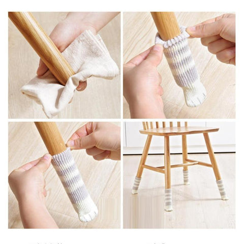 Cat Paw Chair Socks - 16 pieces (4 Sets)