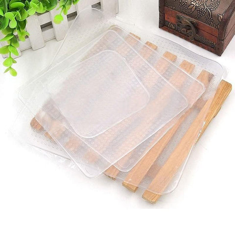Reusable Silicone Food Cover Lid - 4pcs/set