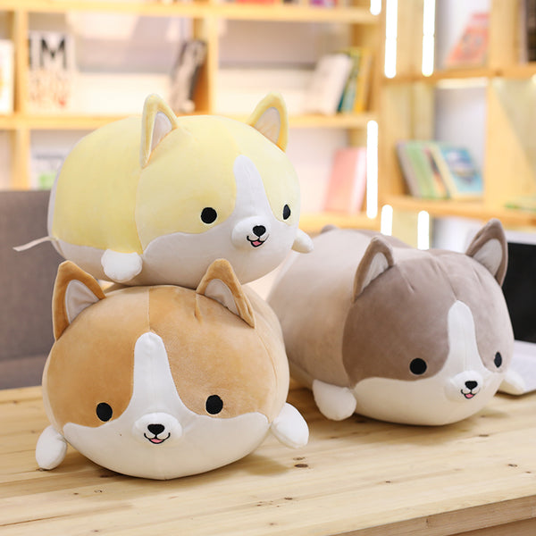 Cute Corgi Dog Plush Toy - 30cm & 45cm