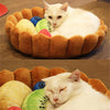 cats fruit tart bed