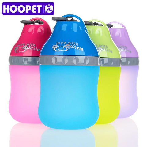 Pet Water Bottle - Lightweight Silicone Material
