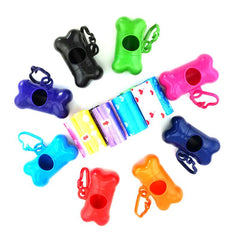 1 Roll (1 Roll=20pcs Bags) +1 Pc Bone-Shaped Dog Poop Bag Dispenser
