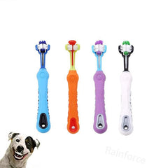 Triple Head Pet Toothbrush