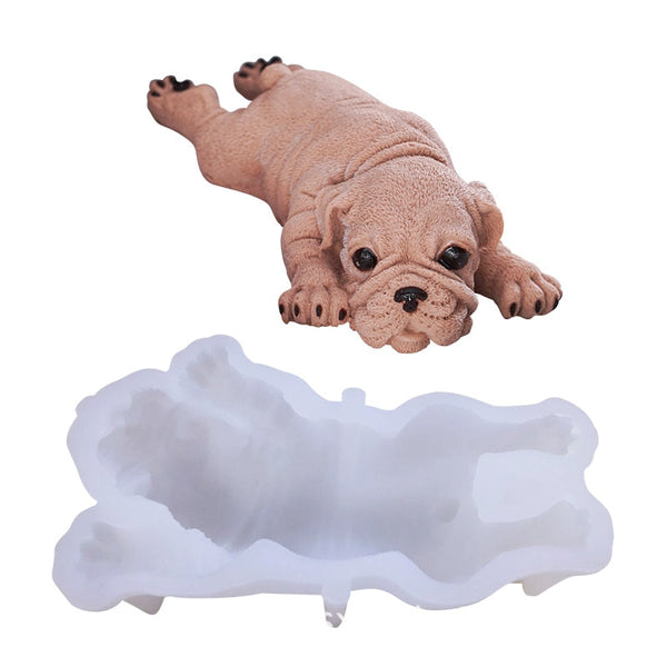 Silicone Dog Cake Mold - For Mousse Cake Ice Cream Jelly Pudding and even Soap