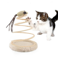 spring cat toy