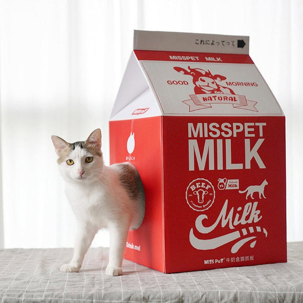 Milk Box Cat House