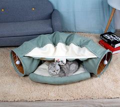 Cat Tunnel with Bed Mat